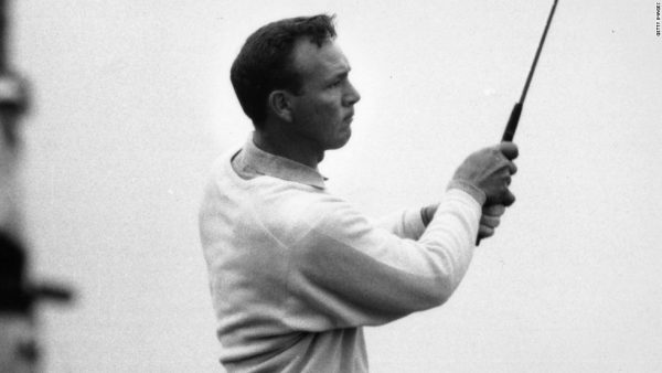Arnold Palmer played in an exhibition match on Oglebay's Crispin Course in 1963.