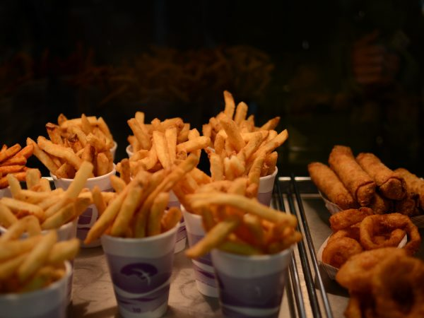 There are many side dishes from which to choose at Coleman's Fish Market, including the french fries, Jo-Jos, shrimp and egg rolls, and onion rings.