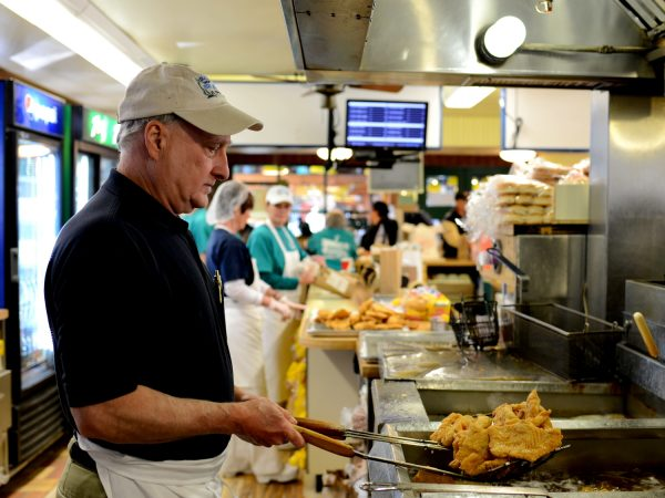 Joe Coleman has been in the fish business for the past 40 years, and he can be seen manning the fryers most days during the lunch rush.