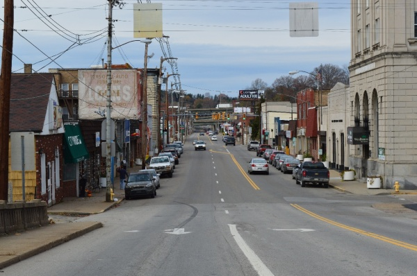 More than 30 businesses operate along this stretch of National Road/U.S. 40, including hair salons, eateries, auto part stores, banks, gas stations, Vance Printing, Glessner & Associates, as well as legendary businesses Wakim's Bar and DiCarlo's Pizza.