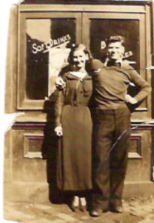 Mabel, 15, and George, 18, in 1934