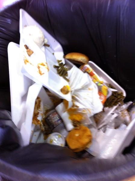 The waste bin.