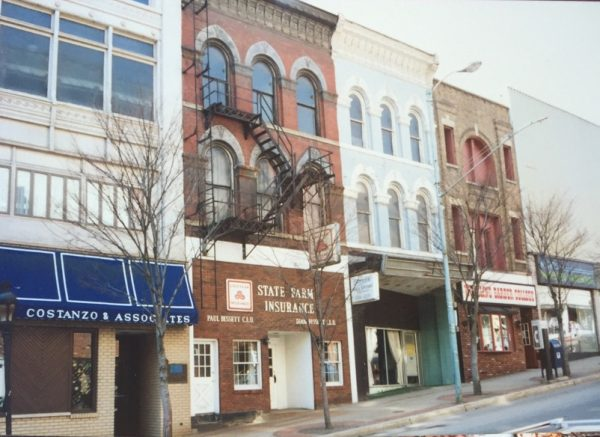 The Main Street office as it appeared before the 1995 renovations.