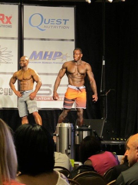 Mr. Youngblood on stage during the prejudging rounds of the 2015 North American Championships.