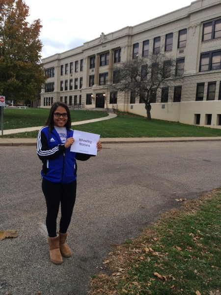 I chose Triadelphia Middle School because I'm an alumni and I think it's important to remember where you came from. – Briella Taylor