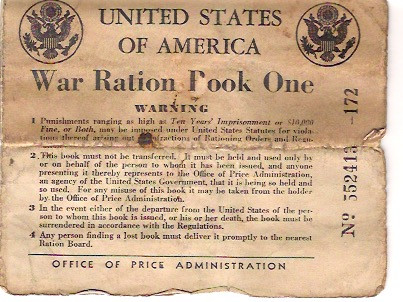 One of Tom Minns' old war ration books.