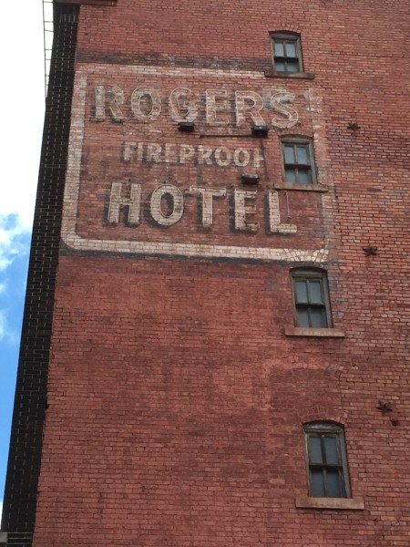 Rogers Hotel on 14th Street was fireproof. Note how the sign was later upgraded as a neon sign.