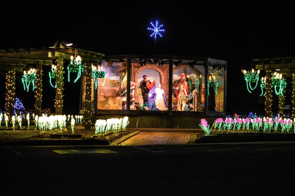 Lights - nativity scene