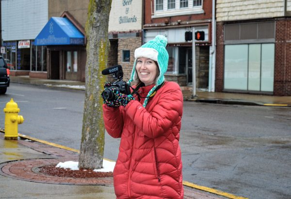 Moore ventured to each section of the city during her stay - including the downtown district and Elm Grove so she could introduce herself to DiCarlo's Pizza.