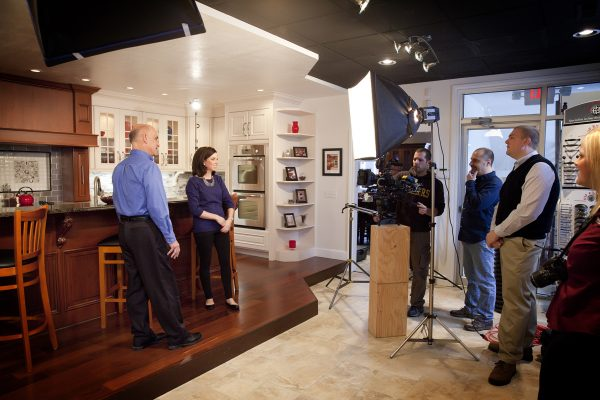 Creative Director Joe Jacobs works with clients on a commercial shoot soon after Wheelhouse Creative launched one Wheeling's newest business on Jan. 5.