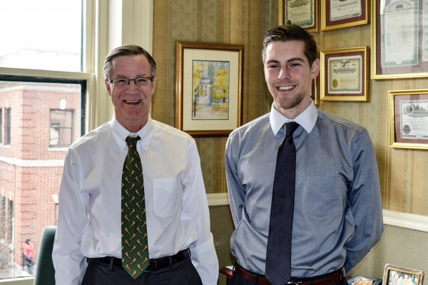Holloway shares his Chapline Street office with his son (Walker P. Holloway III).