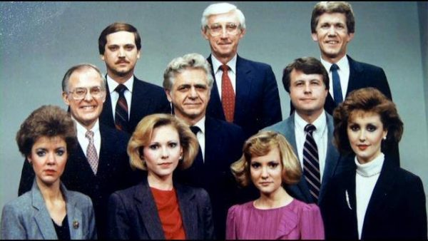 Frank O'Brien (back row on the left) began his television broadcasting career with WTRF TV7 in the mid-1980's.