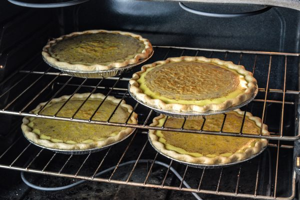 Oliver's Old Fashioned Egg Custard pies are nearly finished at the Centre Market location. Oliver's Pies is open six day each week, and whole pies are $12.50 each. Slices sell for $2.50.