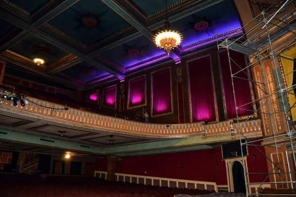 New LED lighting was adding to the Capitol Theatre interior in l;ate 2014.