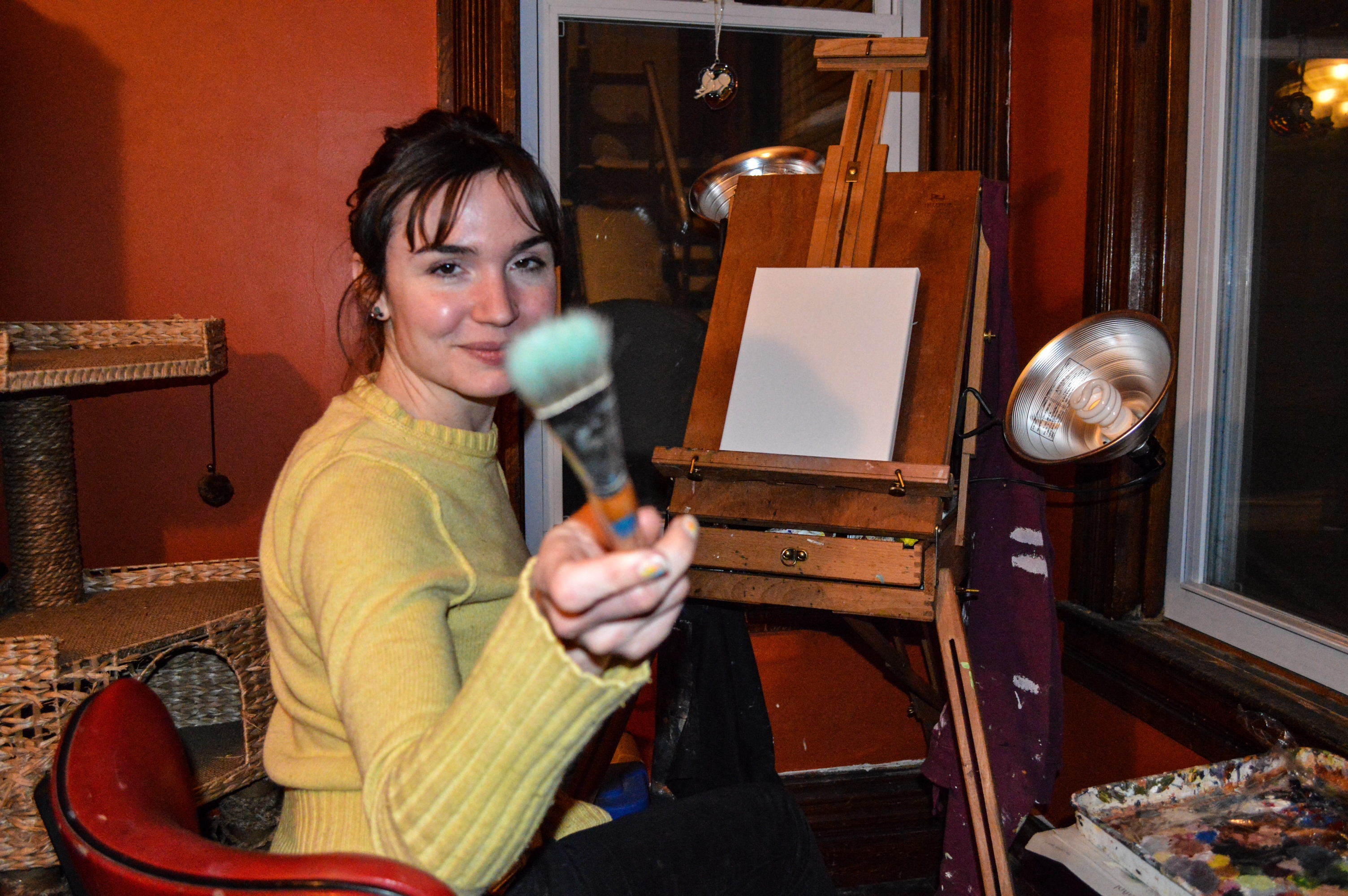 the arts and the crofts in wheeling weelunk in the winter patricia paints in the couple s dining room but during the warmer