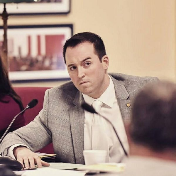 """A photographer for the West Virginia Legislature caught Del. Fluharty during this """"raised eyebrow"""" moment during the freshman lawmaker's first regular session."""