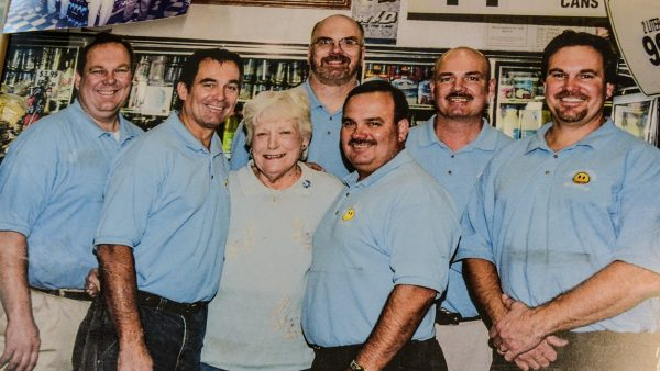 All six Miller brothers with founder Nancy Neely.