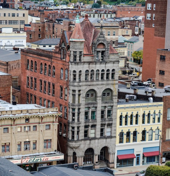"The Professional Building, owned by Glenn Elliott, is located in the heart of downtown Wheeling and is the home of ""Chisel Box."""