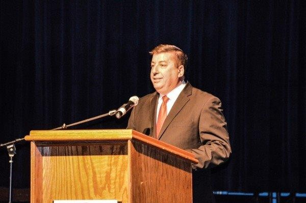 Fahey provided the introductory comments during the State of the City Address at Wheeling Island Casino in February.