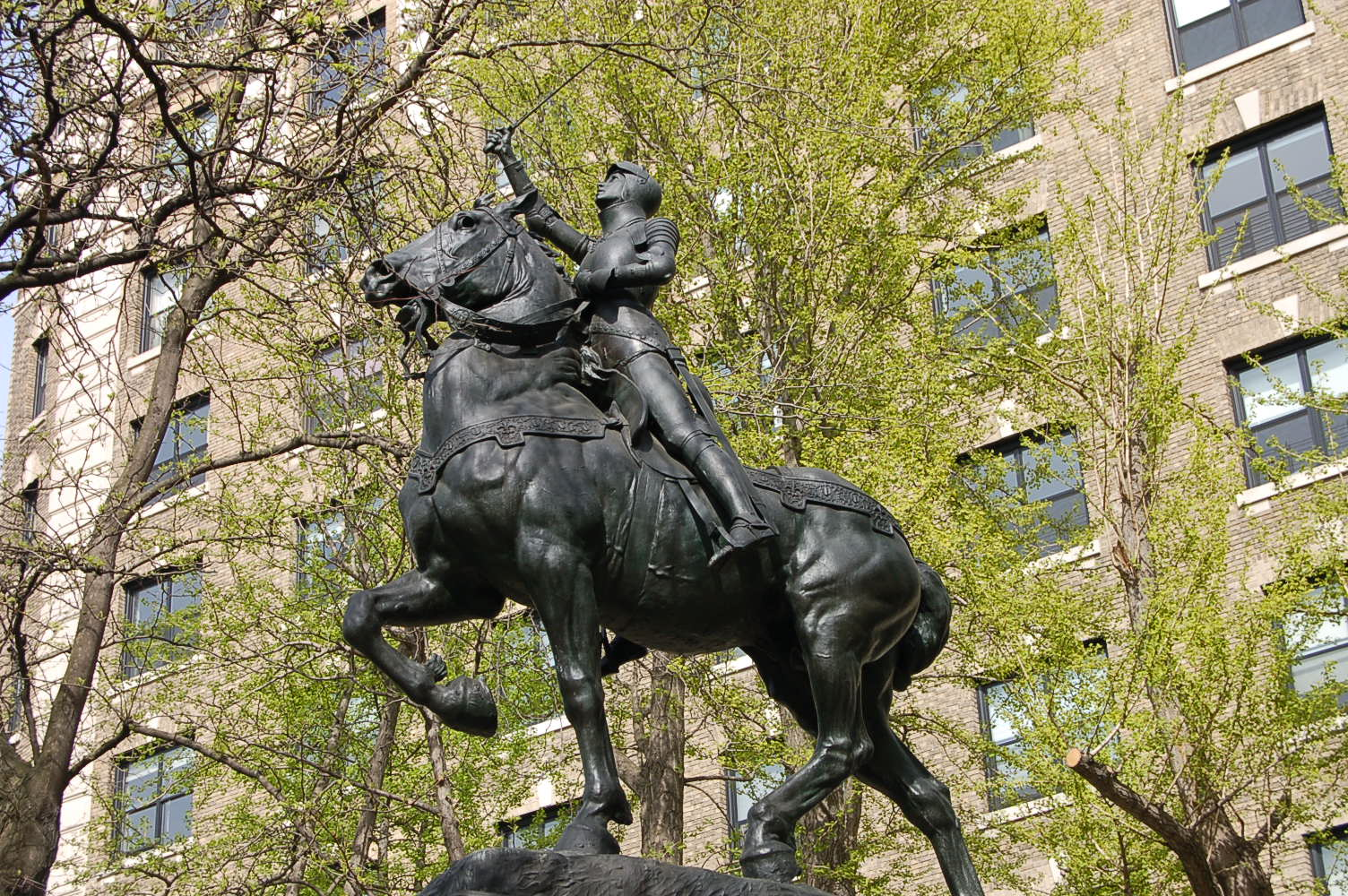 Joan of Arc sculpture in New York City.
