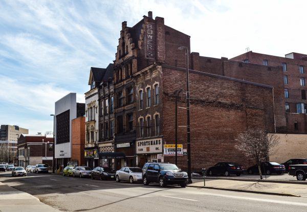 This stretch of Market Street in downtown Wheeling is in danger of demolition.