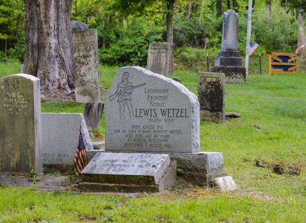 Is legendary frontiersman Lewis Wetzel buried locally? Why yes he is - McCreary Cemetery in Marshall County.