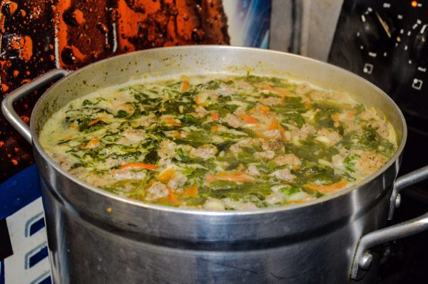 The Italian Wedding soup is one of Frank's favorites.