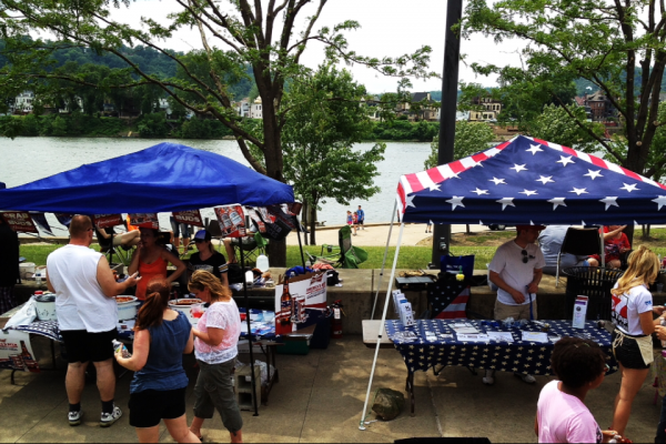 The Wheeling Vet Center can be found at several of the festivals at Heritage Port in Wheeling.