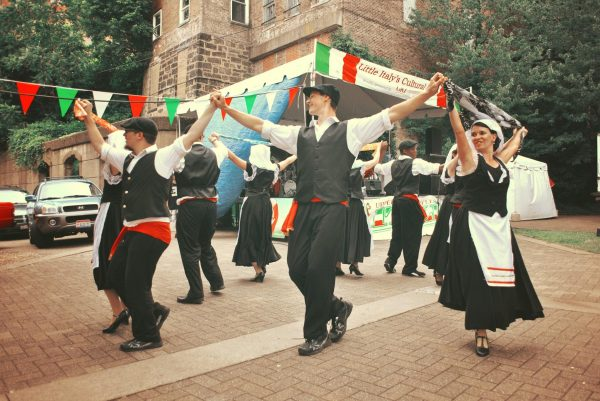 "The Allegro Dance Company performs in the ""Little Italy"" section of the Upper Ohio Valley Italian Heritage Festival."