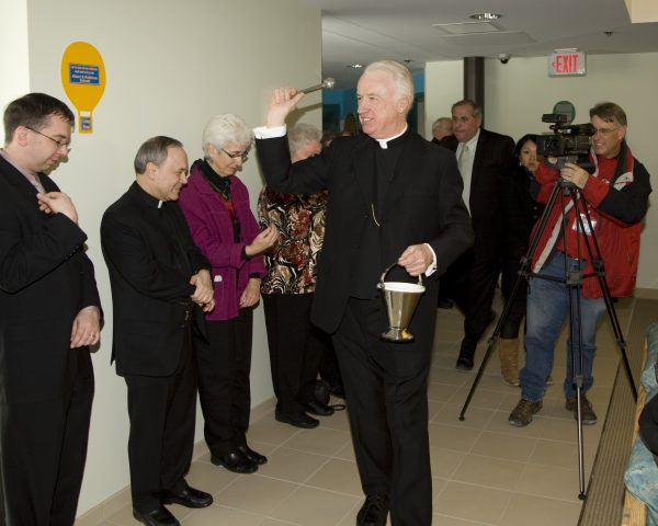 Bishop Bransfield blesses all of the capital improvements the diocese has made in the past 11 years.