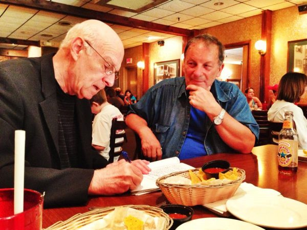 Mihai with Marc Harshman, West Virginia's Poet Laureate.