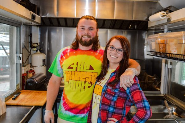 Thomas Gilson decided to get into the grilled cheese business last year after working several different jobs. His sister, Jennifer, works with him each day.