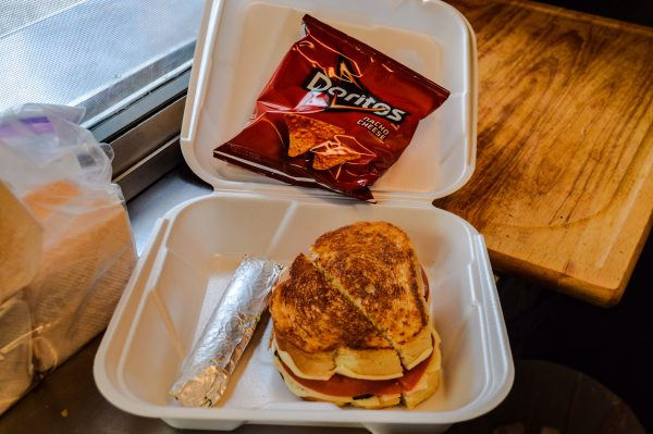Gilson offers both traditional and specialty grilled cheese sandwiches.