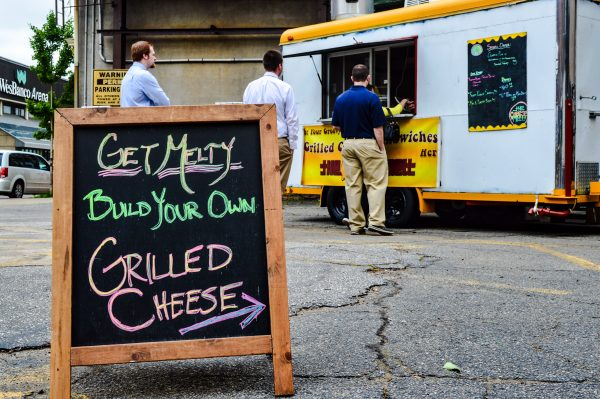 Customers can call-in or text-in their lunch orders to The Cheese Melt at (304) 780-4858.