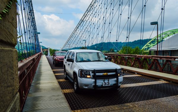 While most city employees avoid using using the Suspension Bridge, officers with the Wheeling Police Department do with public safety in mind.