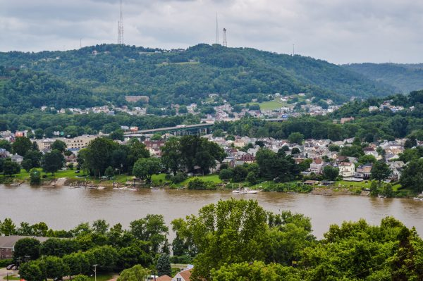 The Mount Wood Overlook offers a a great perspective of Wheeling Island.