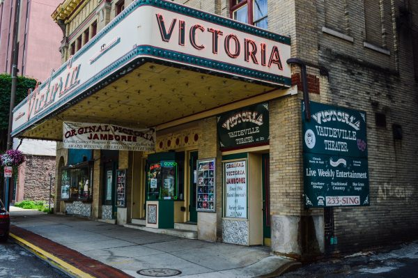 The Victoria Theater is located at 1228 Market Street in downtown Wheeling.