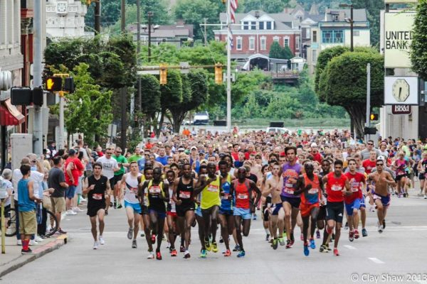 This year's 5K race is set for Saturday evening on downtown Wheeling.