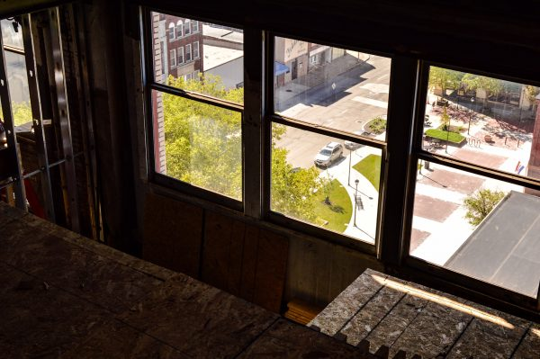 A few of the loft apartments will feature views of the downtown's Market Plaza.