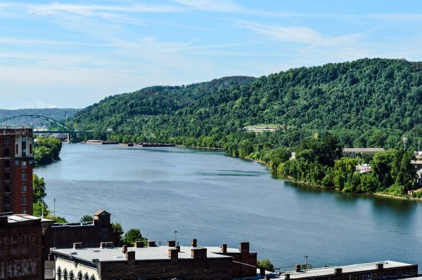 The loft apartments on the west side of the Stone Center will offer views of the Ohio River valley.