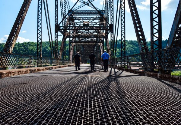 Longwell, Handzus, and Bob Kish walk the bridge from time to time to make sure trespassers are not gaining access.
