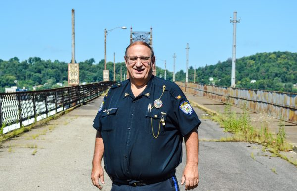 Benwood Police Chief Frank Longwell has joined city officials with attempting to configure a way for the demolition of the Bellaire Bridge.