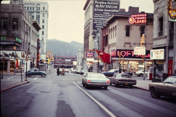 The face of downtown Wheeling when Hankish first came into power in the 1960s included the Wheeling Wharf parking garage.