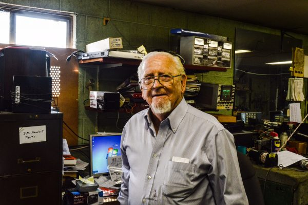Chuck Schultz has been the electronics technician for Duvall's for several decades.