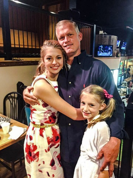 Tom with his daughters, Alexis and Payton.