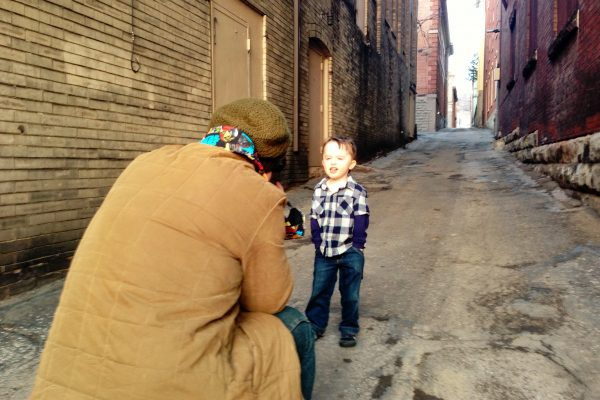 "One of the first photos taken during the ""Meet Me in the Alley"" art project was McKinley's son, Louie."