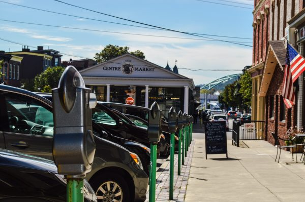 The parking meters in Centre Wheeling are being painted this weekend thanks to a project initiated by the Wheeling Arts and Cultural Commission.