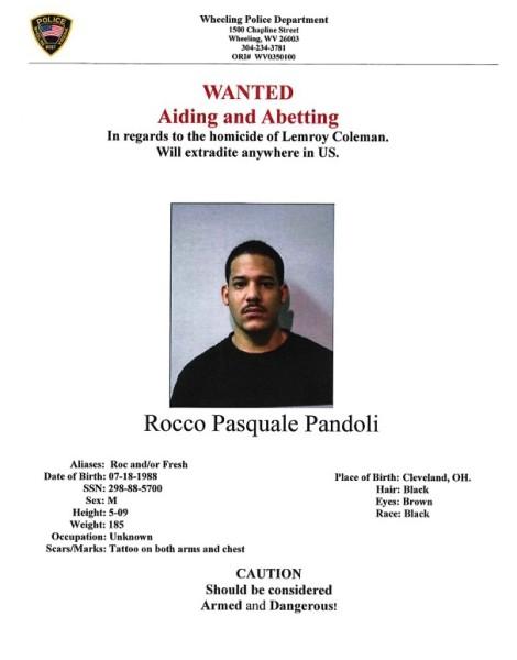 WANTED: Rocco Pasquale Pandoli