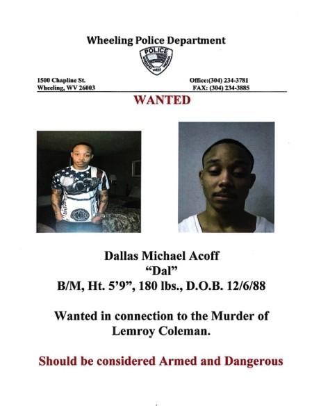 WANTED: Dallas Michael Acoff