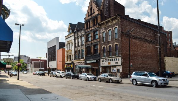 Members of Wheeling Council voted in favor of purchasing three of the four buildings along this stretch of Market Street.